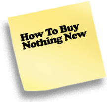 How To Buy Nothing New
